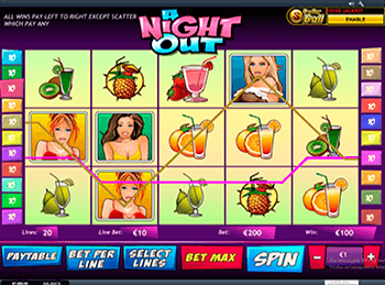 Игровые автоматы зеркало A Night Out